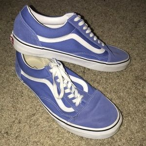 Baby Blue old school vans